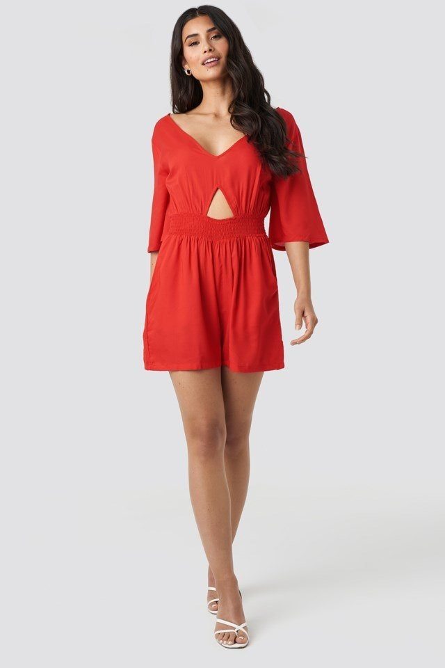 Cut Out Detail Playsuit Outfit