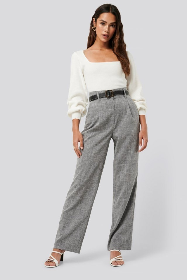 Relaxed Suit Trousers Outfit.