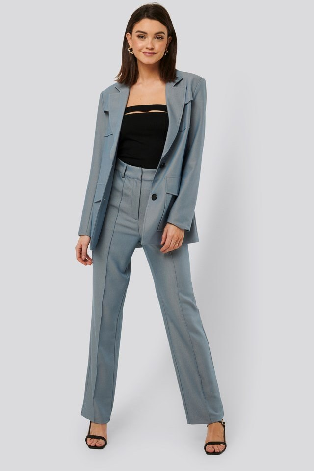 Front Creased Suit Pants