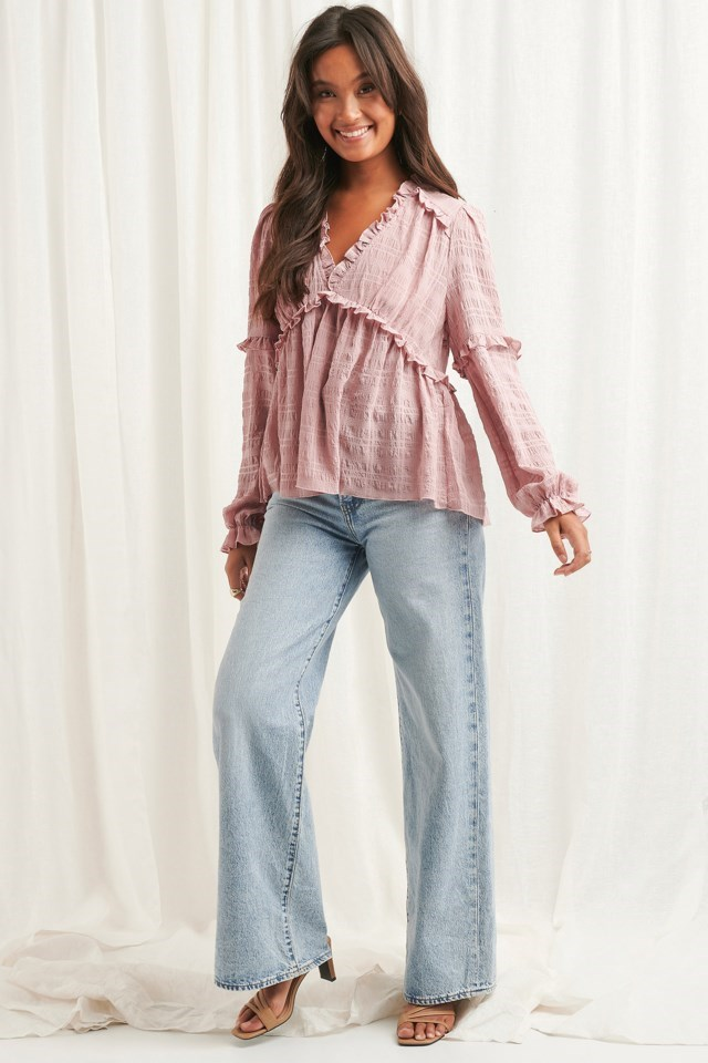 Structured Frill Blouse