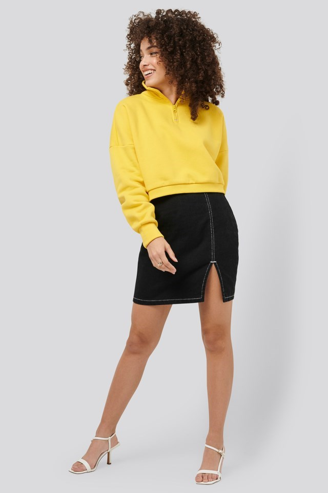 Zipper Jersey Sweater Outfit