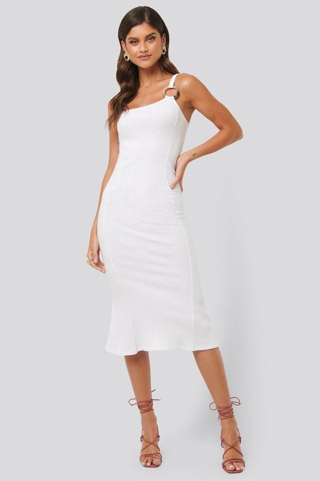 Ribbed One Shoulder Dress