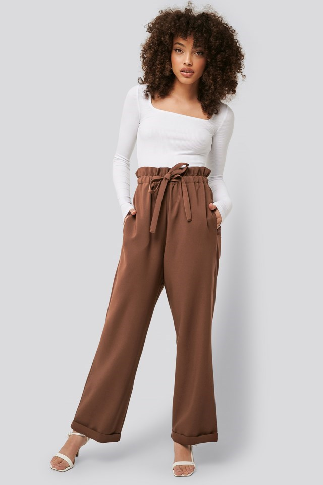 Paperbag Tapered Pants Outfit