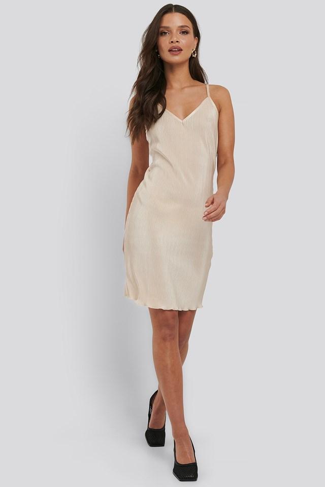 Pleated Slip Dress