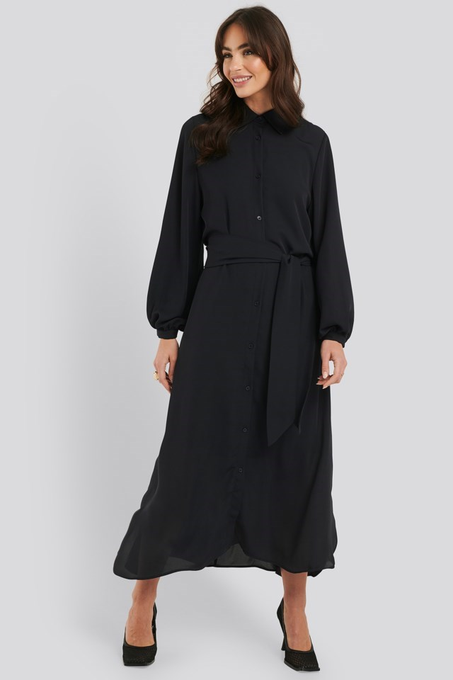 Maxi Belted Dress