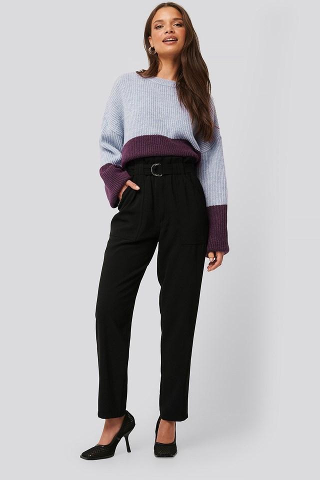 Big Pocket Belted Pants Outfit