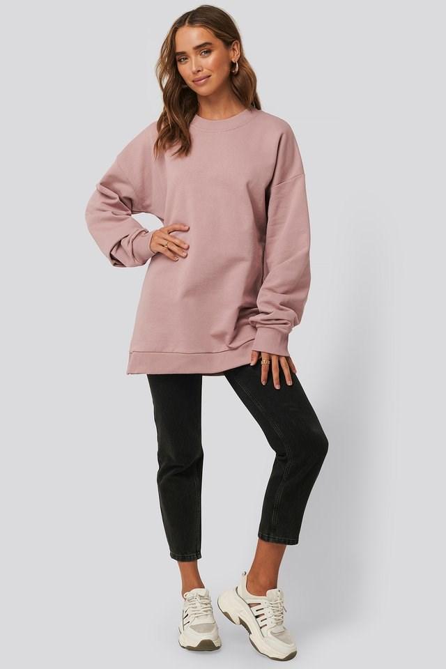 Oversized Crewneck Sweatshirt Outfit