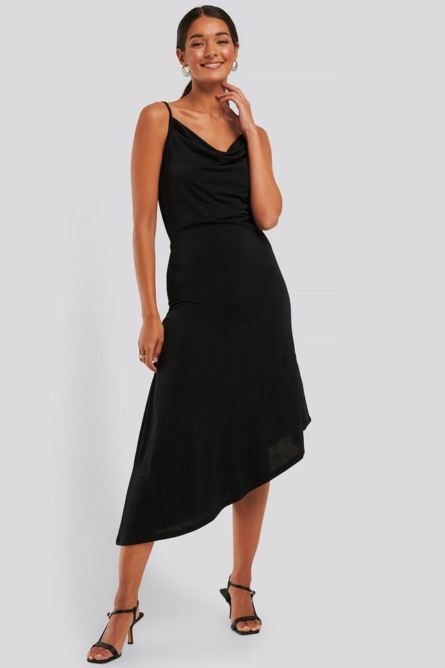Waterfall Asymmetric Dress