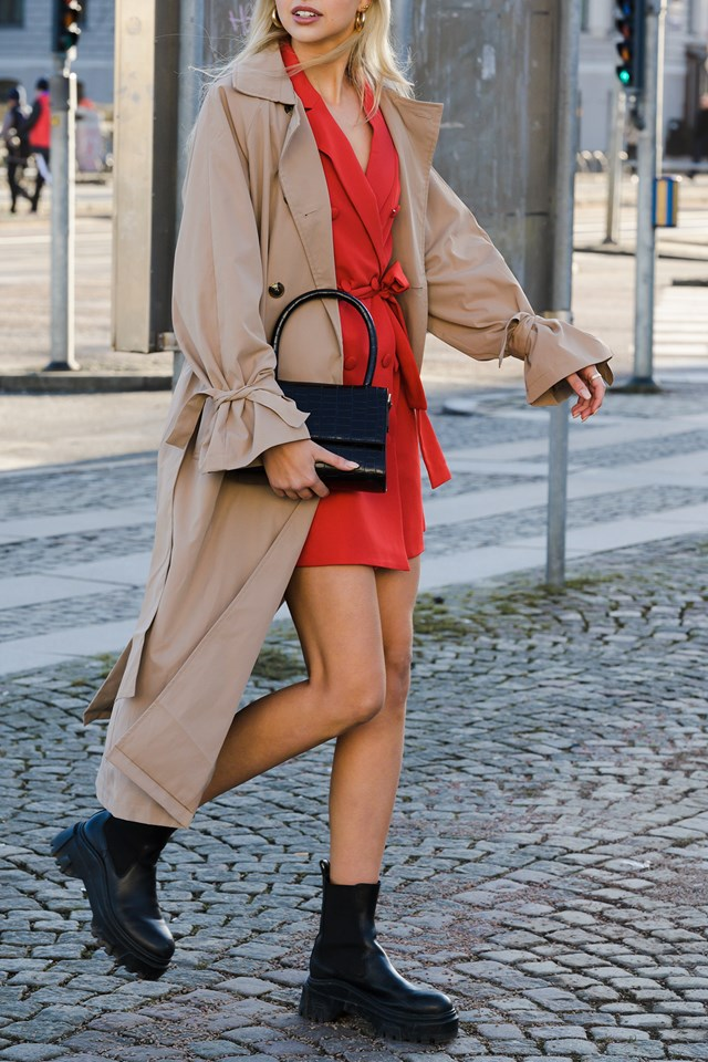 Classic Belted Trench Coat Outfit NYFW
