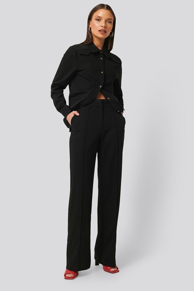 Back Slit Suit Pants Outfit