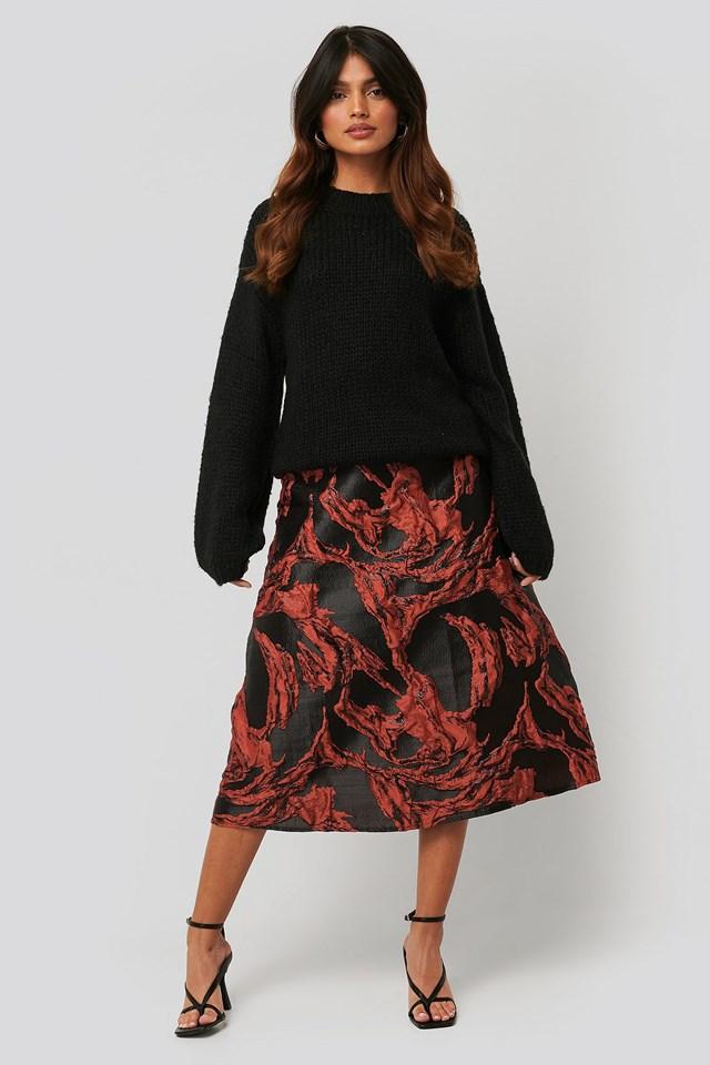 Jacquard Midi Skirt