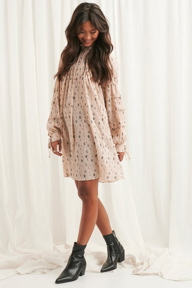 Structured Flower Printed Dress