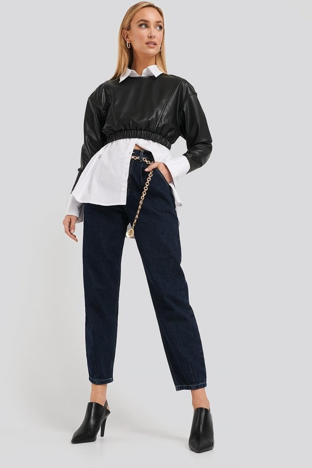 Cropped Balloon Leg Jeans