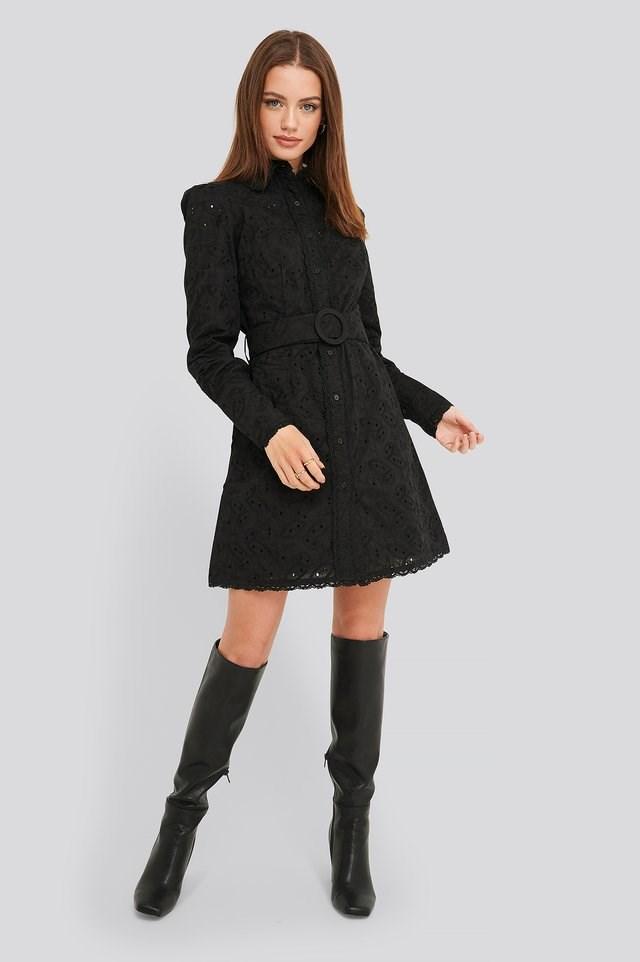 Anglaise Collar Mini Dress