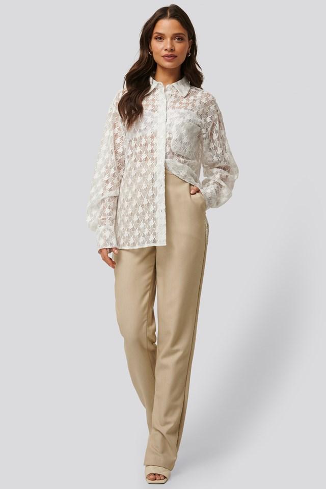 Side Slit Suit Pants Outfit
