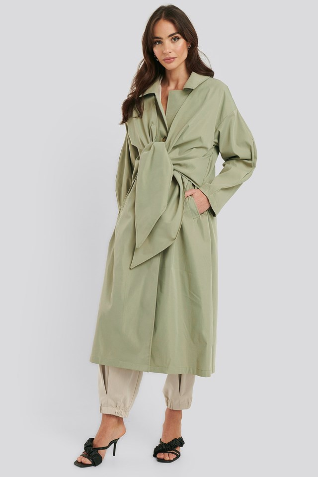Tie Front Trench Coat Outfit
