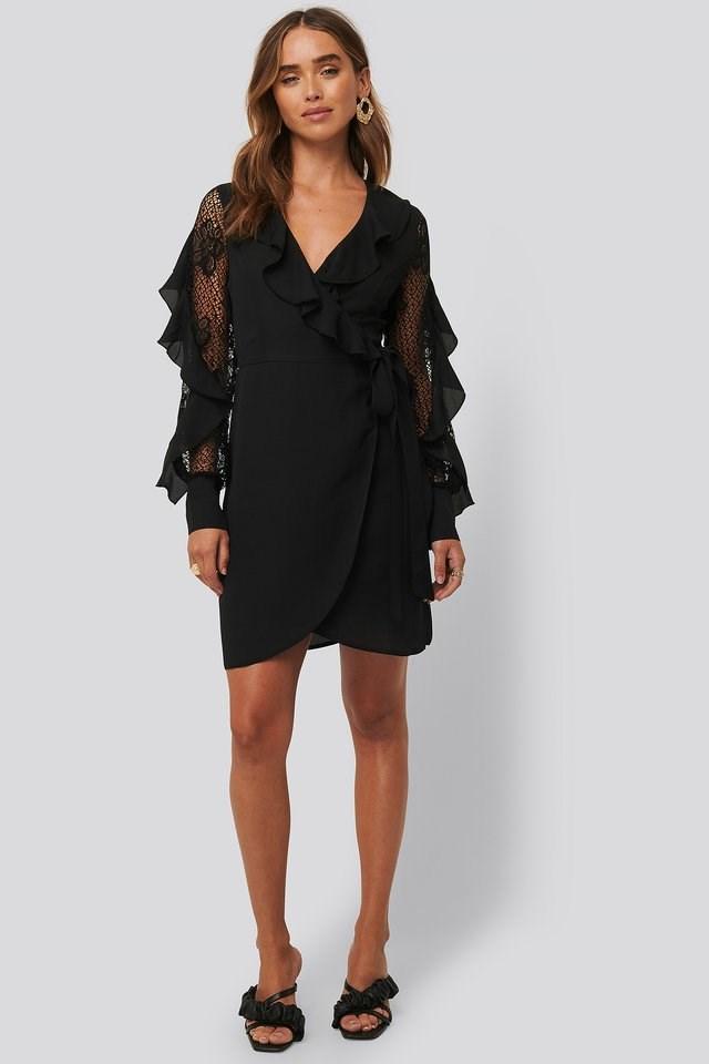 Lace Sleeve Mini Dress