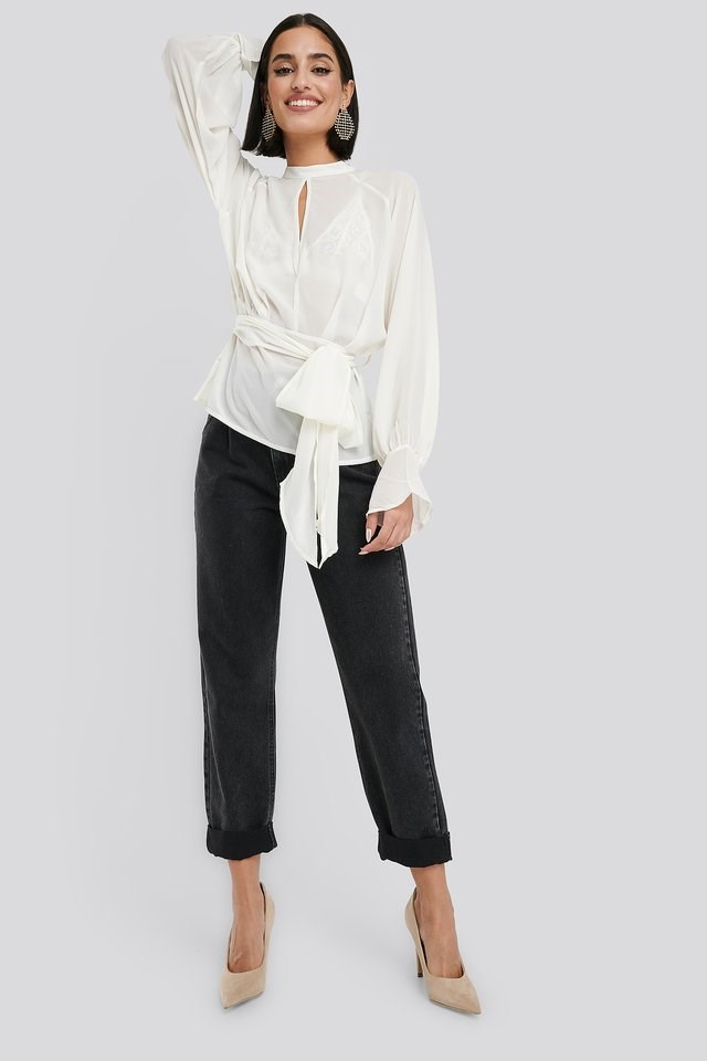 High Neck Knot Blouse