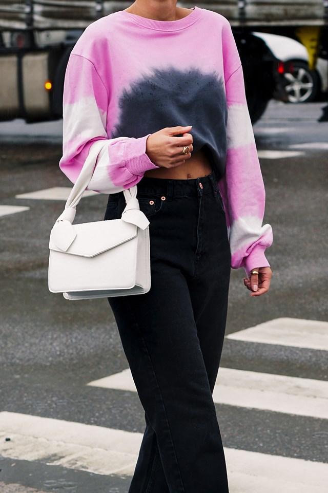 Tie Dye Sweatshirt Outfit NYFW