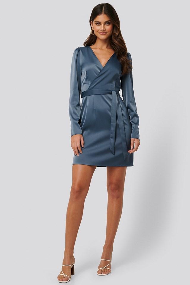 Satin Overlap Dress
