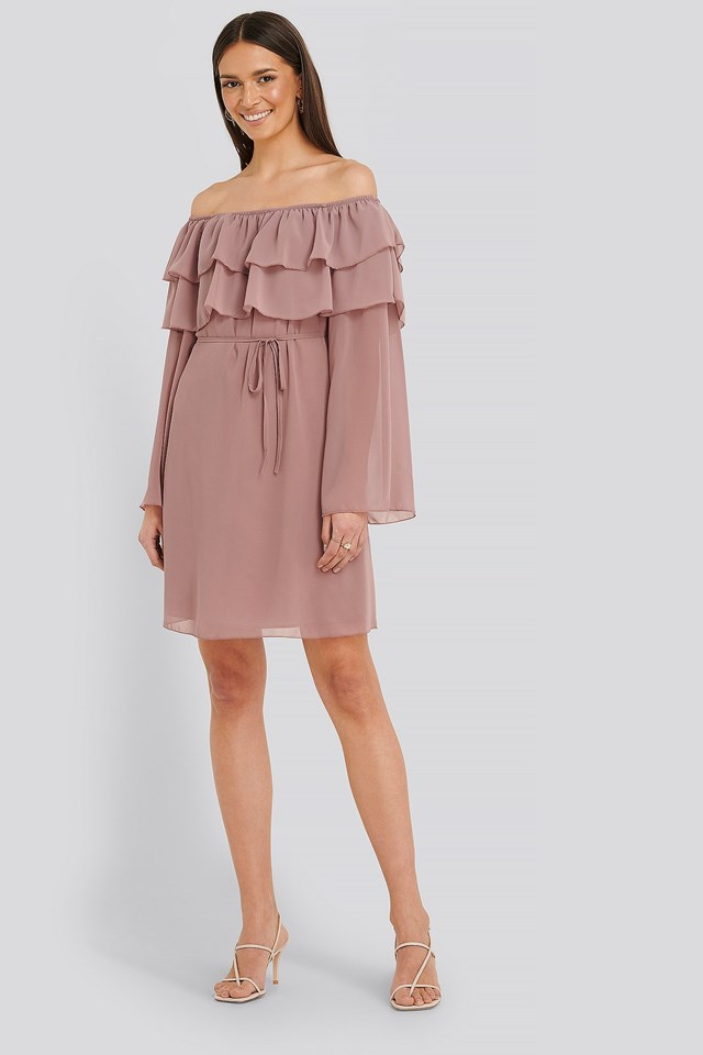 Tulum Ruffle Detail Dress