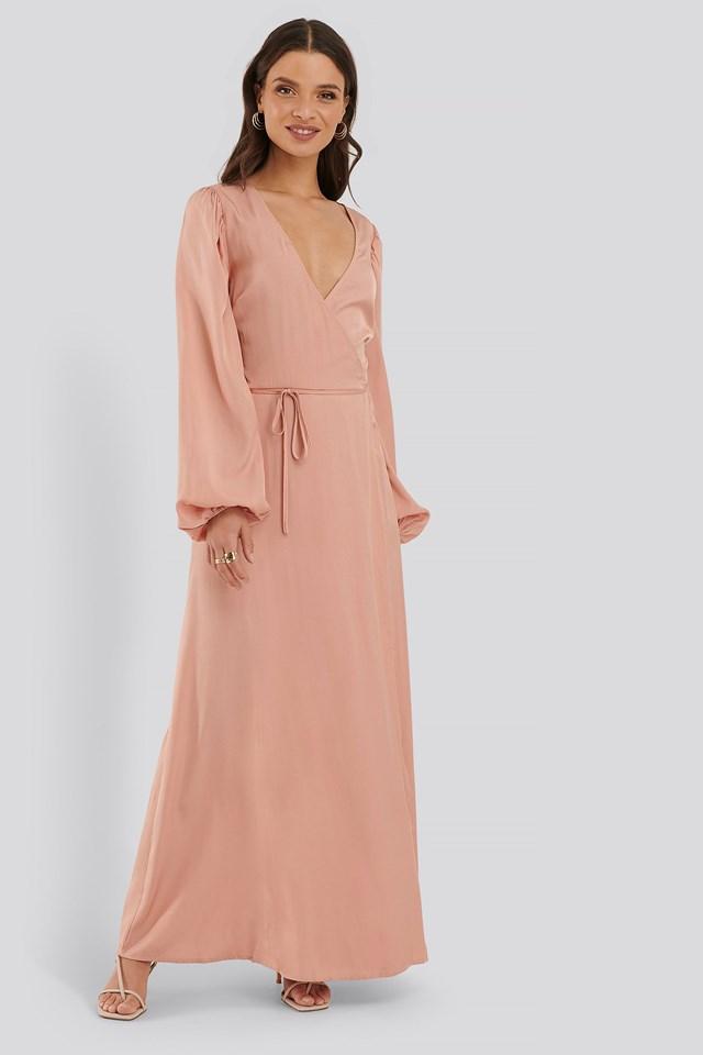 Wrap Around Maxi Dress Outfit