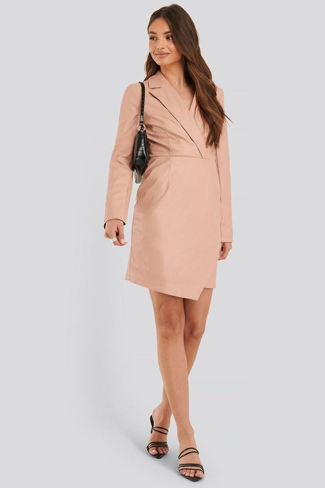 PU Blazer Dress Outfit