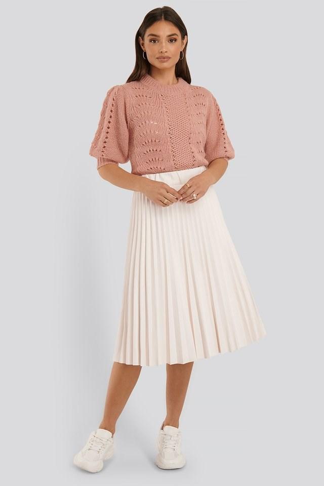 Short Balloon Sleeve Knit