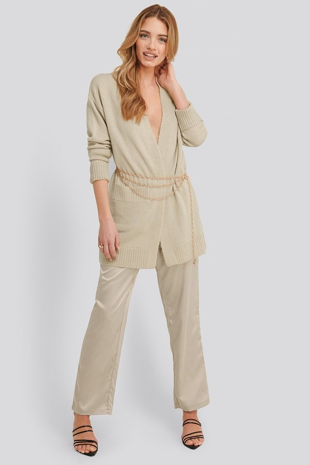 Lia One Pocket Knitted Cardigan