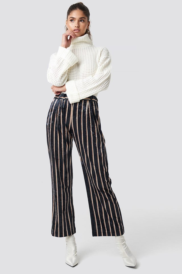 Ruby Pants with Knitted Sweater