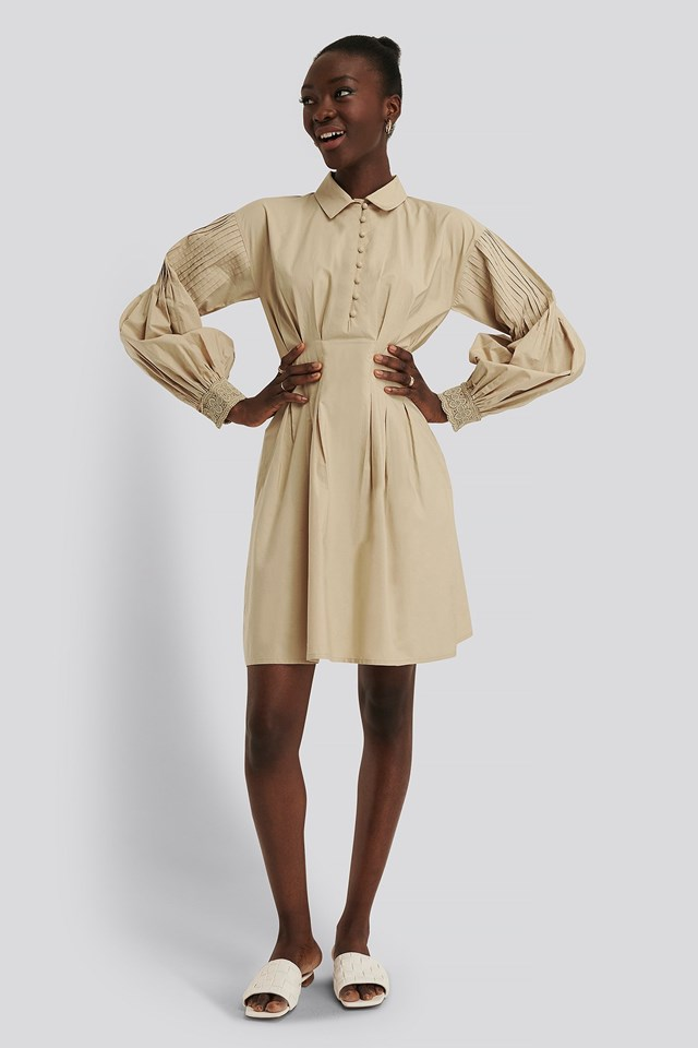 Lace Detail Cotton Dress