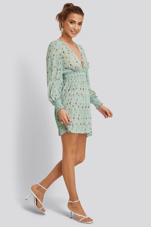 Structured Smock Waist Dress
