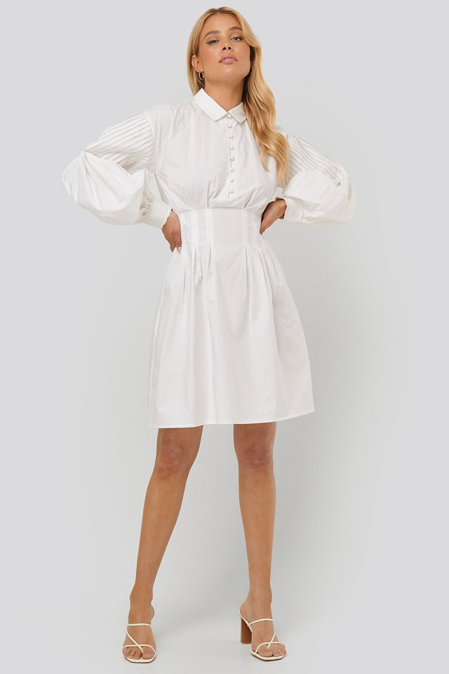 Lace Detail Cotton Dress Outfit