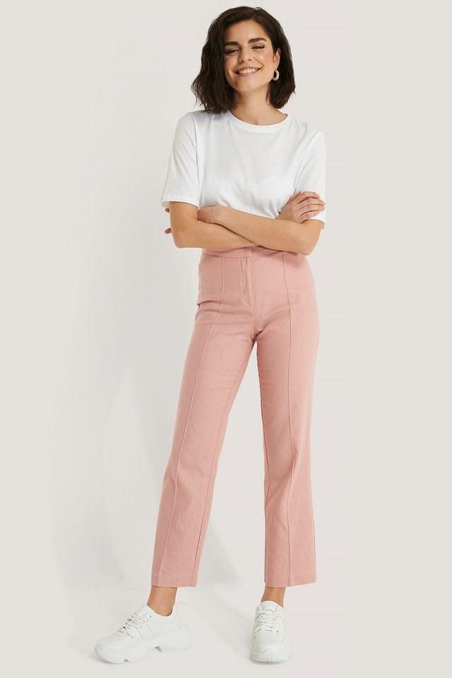 Linen Look Suit Pants