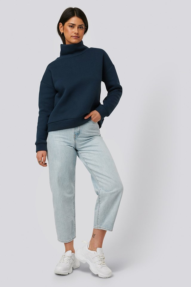 Highneck Basic Sweater Outfit