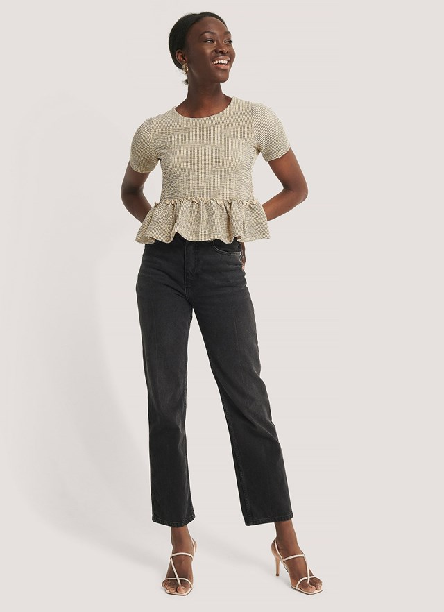 Structured Flounce Detail Top