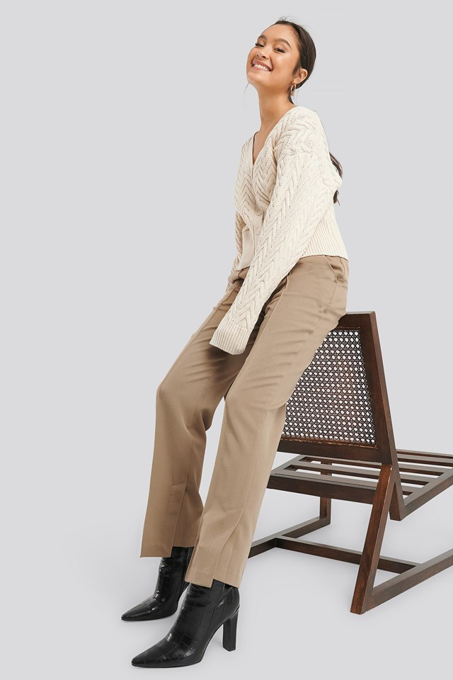 Cable Knitted Short Cardigan