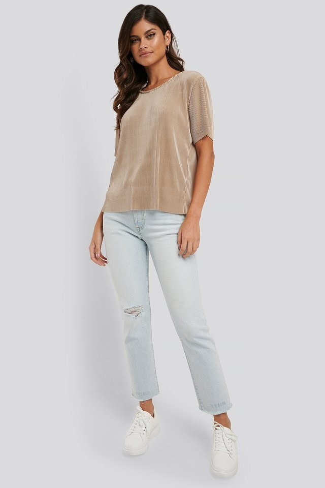 Pleated Loose Fit Top Outfit