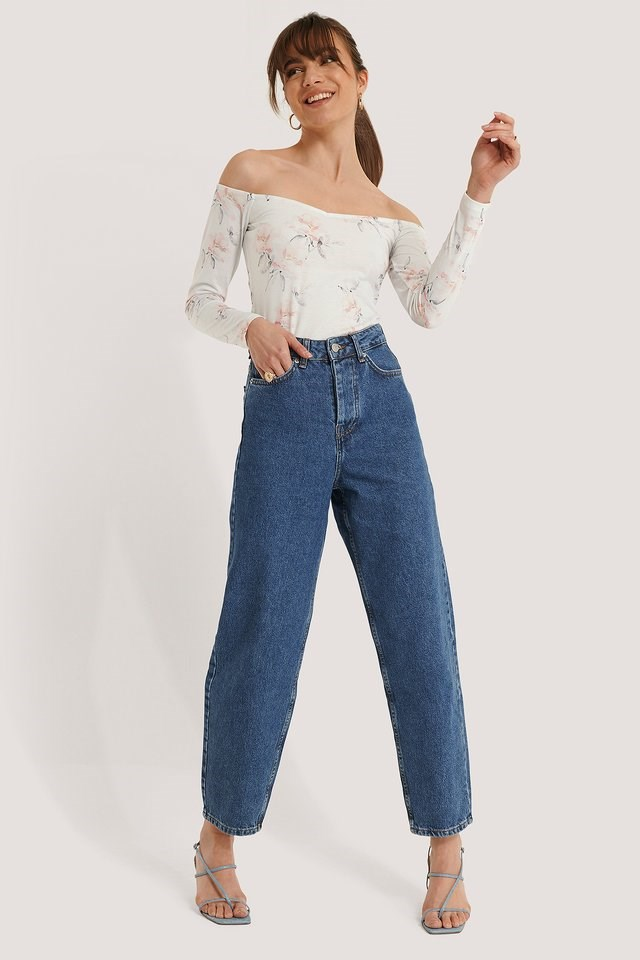 Jersey Off Shoulder Top Outfit