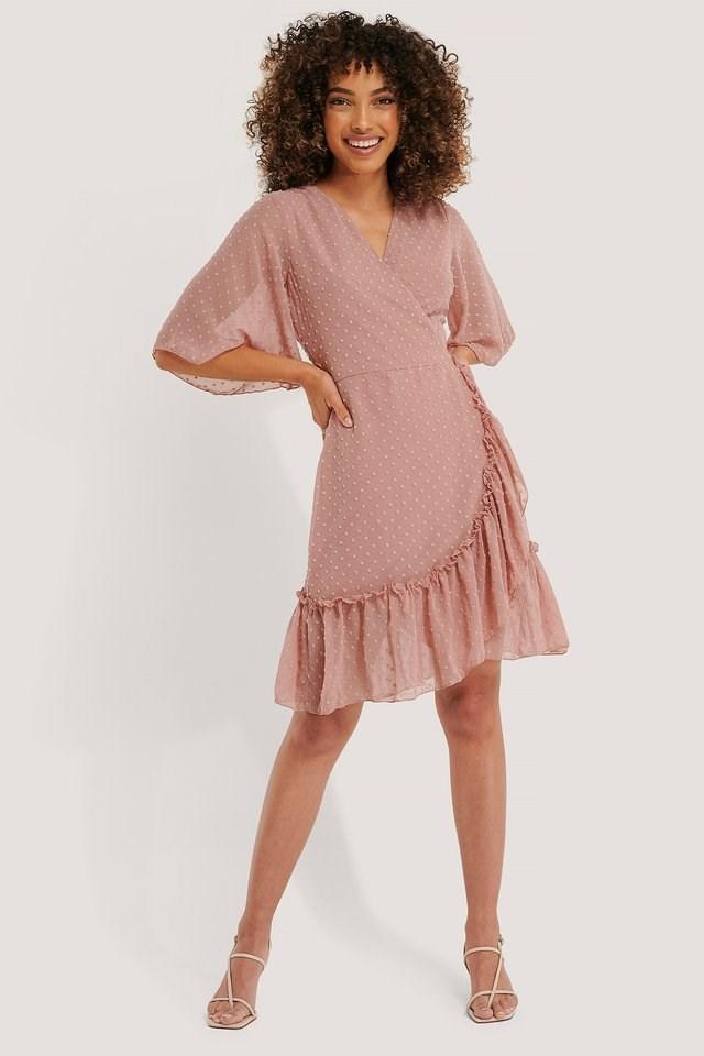 Wrap Dot Mini Dress