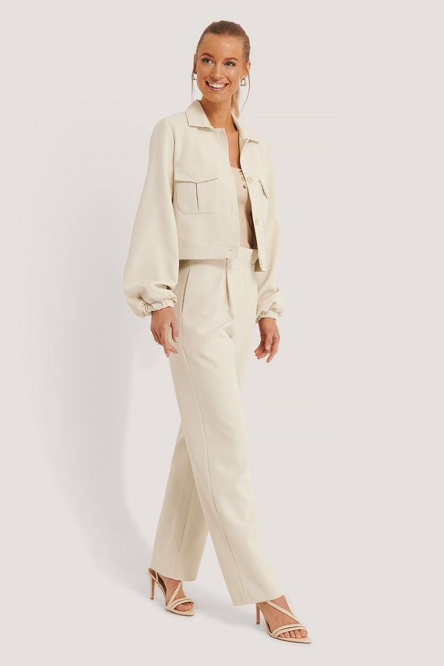 Square Neck Raw Edge Top Outfit