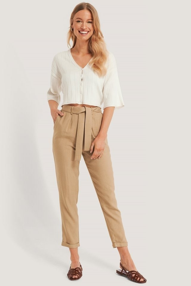 Belted Dressed Trousers