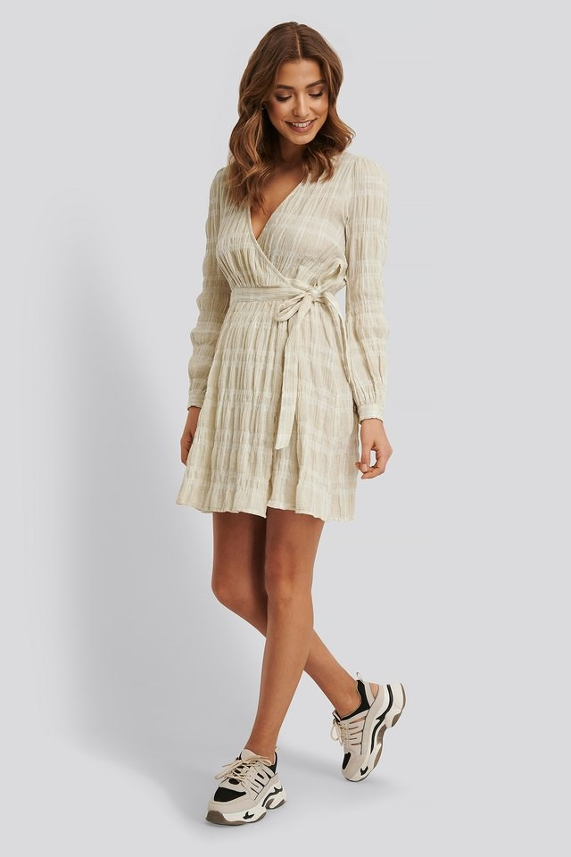 Linen Overlap Dress