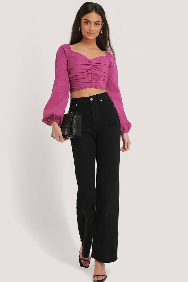 Hight Waisted Straight Fit Jean