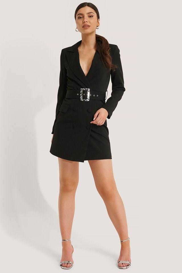 Big Belted Blazer Dress