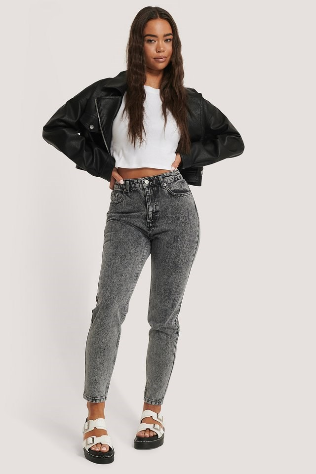 High Waist Slim Denim