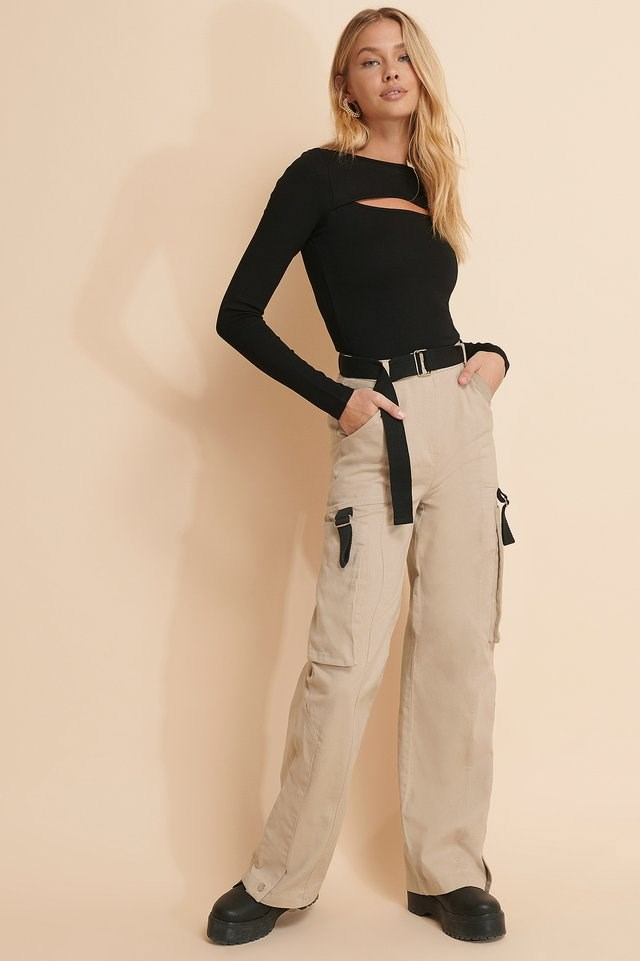 Detailed Cargo Pants