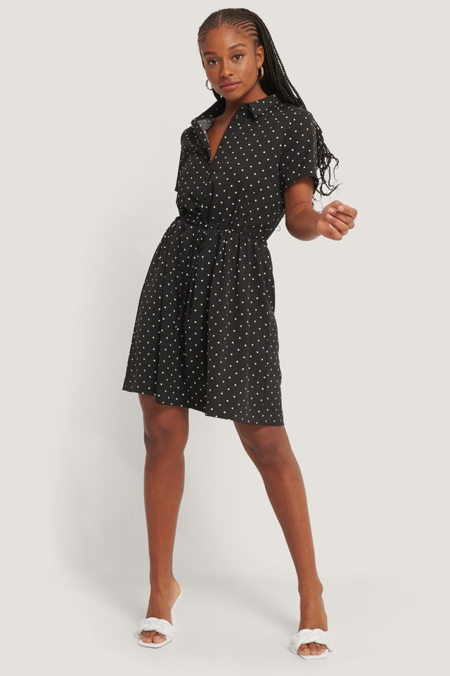 Dotted Collar Dress