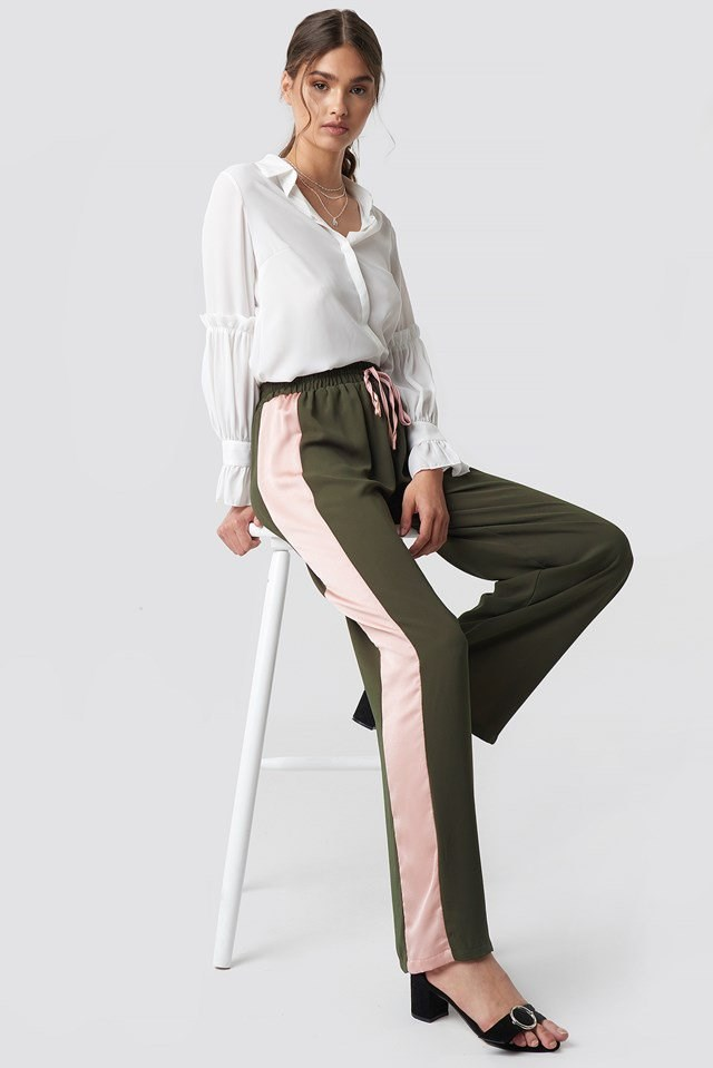 Comfortable Wide Pants with Classy Blouse
