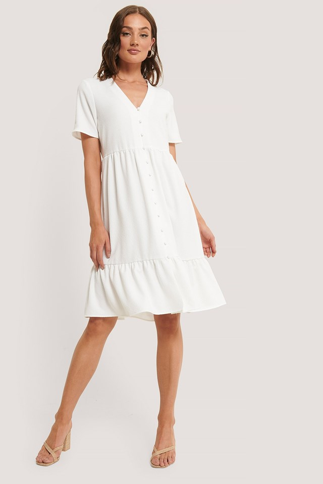 Structured Buttoned Dress